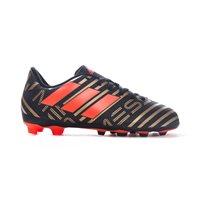 Adidas Nemeziz Messi 17.4 FxG Firm Ground Boots - Black/SolRed/Gold