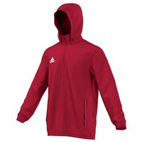 Adidas CoreF Rain Jacket - Red/White
