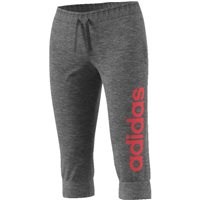 Adidas Womens Essentials Linear 3/4 Pant - Grey/Red