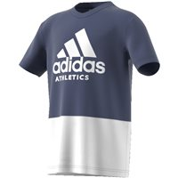 Adidas Boys Sports ID T-Shirt - Navy/White