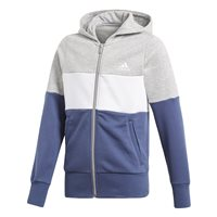 Adidas Girls Sport ID FZ Hoodie - Grey/White/Navy