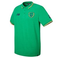New Balance FAI Ireland Media Power Polo 17/18 - Green/Orange/Black