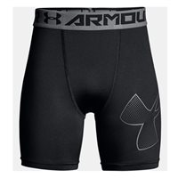 Under Armour Boys HeatGear Armour Mid Shorts - Black