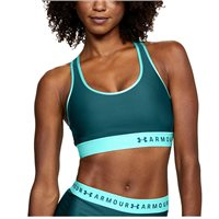 Under Armour Womens Armour Mid Sports Bra - Green