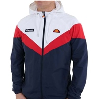 Ellesse Mens Faenza Track Top - White/Navy/Red