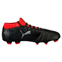 Puma ONE 18.3 FG Football Boots - Black/Silver/Red