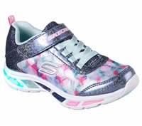 Skechers Girls S Lights - Dance N Glow Toddler - Navy/Multi