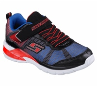 Skechers S Lights Erupters II Lava Wave Toddler - Black/Red/Blue