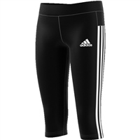 Adidas Girls 3Stripe 3/4 Tight - Black/White