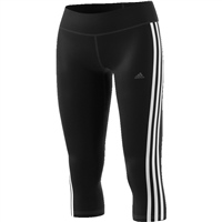 Adidas Womens D2M RR 3S 3/4 Leggings - Black/White