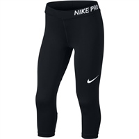 Nike Girls Pro Capri Tight - Black/White