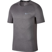 Nike Mens Miler S/S Top - Grey