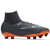Nike JR Hypervenom 3 Academy DF FG - Grey/Orange/Black
