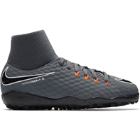 Nike JR PhantomX 3 DF TF - Kids - Grey/Orange/Black