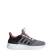 Adidas Girls Cloudfoam Ultimate - Black/White/Pink