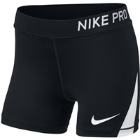Nike Girls Pro Boy Shorts - Black/White