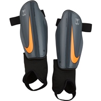 Nike Charge Shinguards - Youth - Grey/Orange/Black