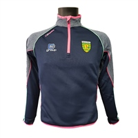 ONeills Donegal GAA Dillon HZ Top - Womens - Marine/Pink/Honeydew