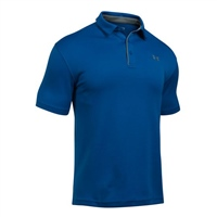 Under Armour Mens Tech Polo - Royal/Grey