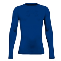 Under Armour Boys HeatGear Long Sleeve Top - Royal