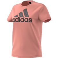 Adidas Womens Foil Text BOS T-Shirt - Pink/Black