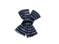 Irish Dancing Diamonte Bow - Black