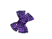 Irish Dancing Diamonte Bow - Purple