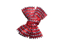 Irish Dancing Diamonte Bow - Red