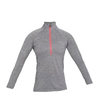 Under Armour Womens Tech Twist 1/2 Zip Top - Grey/Pink