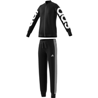 Adidas Girls PES Tracksuit - Black/White