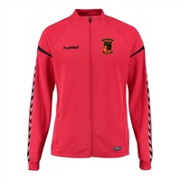 Clane United FC Authentic Charge Poly Zip Jacket - Youth -True Red