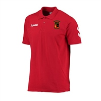 Clane United FC Core Cotton Polo - Red