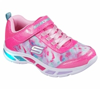 Skechers Girls S Lights - Dance N  Glow - Neon Pink/Multi