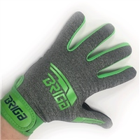 Briga Gaelic Glove - Grey/Lime