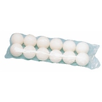 Alan Cooke 144 White Practice Table Tennis Balls - bags of 12