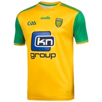 ONeills Donegal GAA Player Fit Home Jersey 2019 - Gold/Green