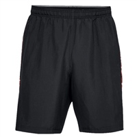 Under Armour Mens Woven Graphic Shorts - Black/Orange