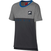 Nike Boys Nike Air Short Sleeve Top - Grey/Black/Royal