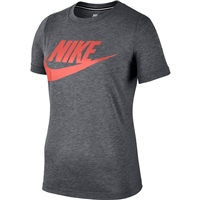 Nike Womens Sportwear Essentials T-Shirt HBR - Grey/Crimson Pulse