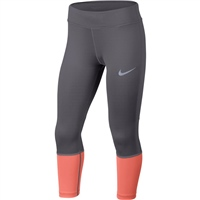 Nike Girls Power Crop Tight - Grey/Pink