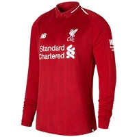 New Balance Liverpool LFC Home Jersey 18/19 L/Sleeve - Red