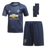 Adidas Manchester United Infant 3rd Kit 18/19 - Navy/Navy/Gold