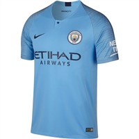 Nike Manchester City Home Jersey 18/19 - Sky