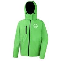 Rinka Gents Softshell Jacket w/Detachable Hood - Vivid Green