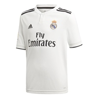 Adidas Real Madrid Home Jersey 18/19 - Kids - White