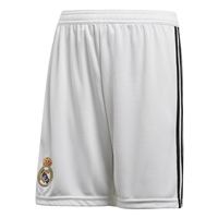 Adidas Real Madrid Home Shorts 18/19 - Kids - White