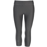 Under Armour Womens HeatGear Armour Capris - Grey