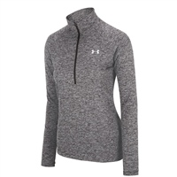 Under Armour Womens Tech Twist 1/2 Zip Top - Grey