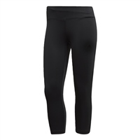 Adidas Womens D2M RR Solid 3/4 Leggings - Black