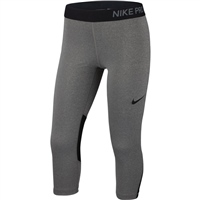 Nike Girls Pro Capri Tight - Grey/Black